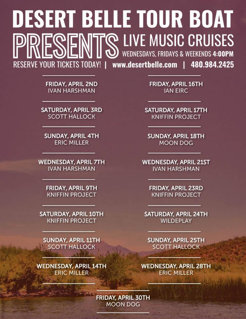 Desert Belle Music Calendar April 2021