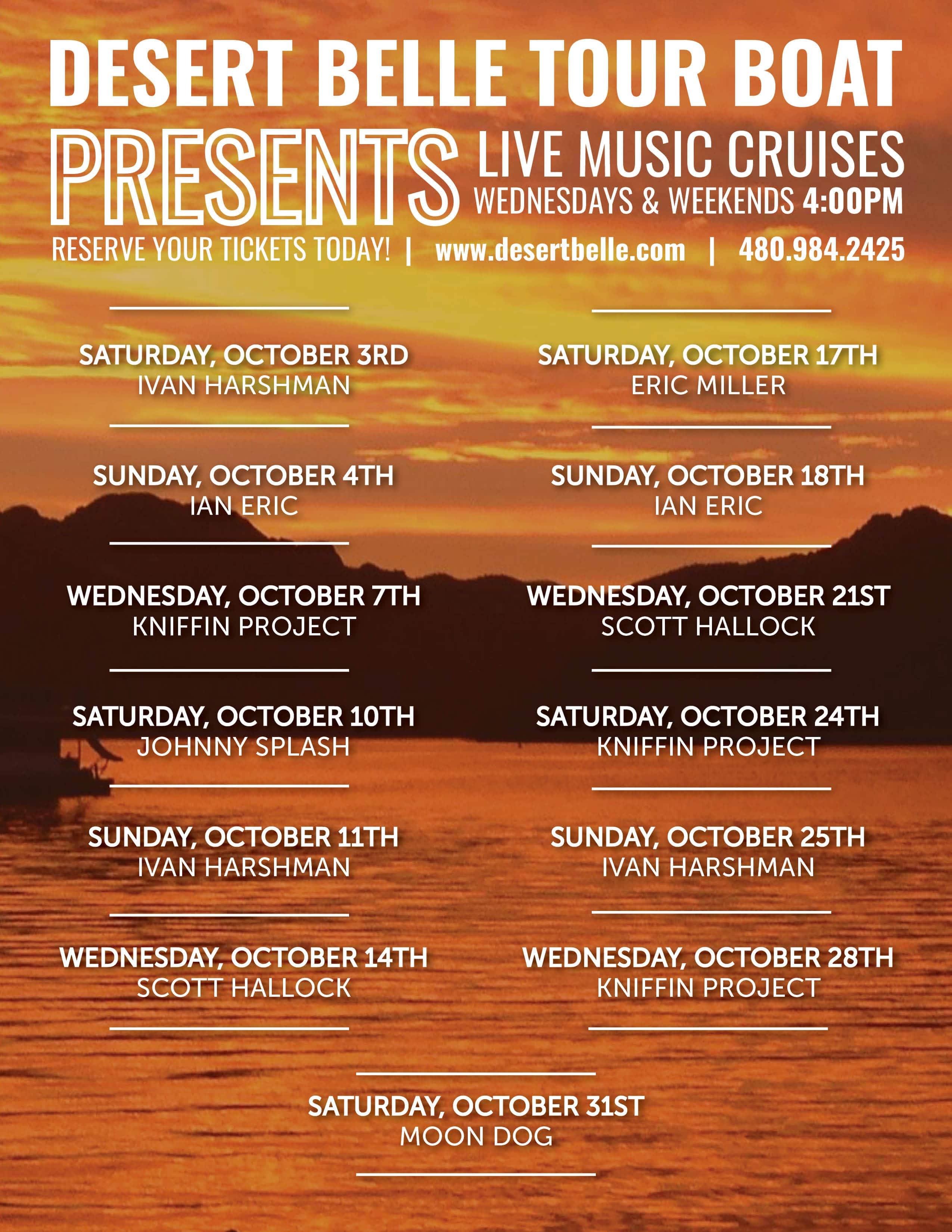 Desert Belle October Music Schedule